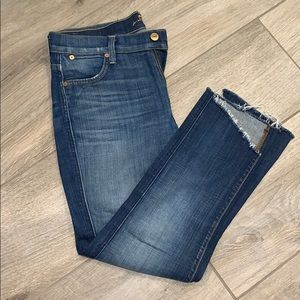 7 for All Mankind cut of Capri jeans